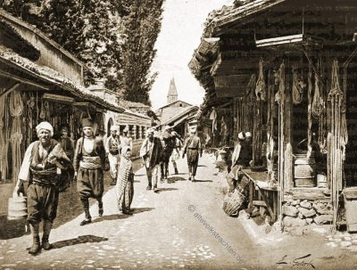 Tchardjia, Begova, Moschee, Sarajevo, Trachten, Bosnien, Herzegowina, Guillaume Capus, Reiseliteratur, Balkan
