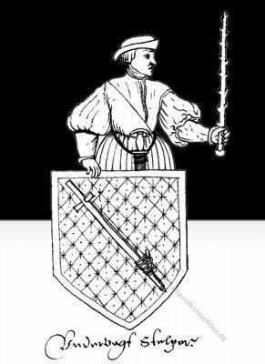 Bauernwappen, Amtstracht, Untervogt, Zürich, Schweiz, 17. Jahrhundert, Barock