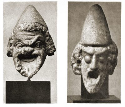 Antike, Maske, Masken, Griechenland, Dardanellen, Tanagra, Böotien, Terrakotten, Altes Museum, Berlin