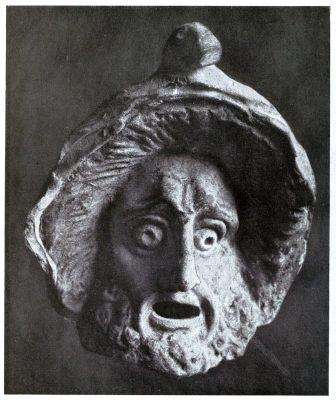 Antike, Maske, Theben, Böotien, Griechenland