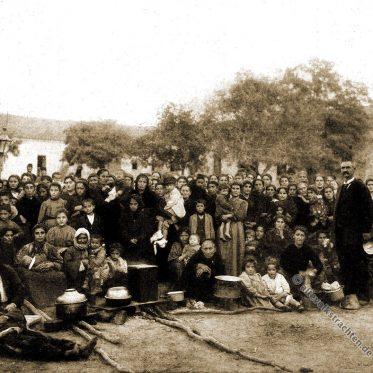 Armenische Flüchtlinge im Krankenhaus von Warna 1896.