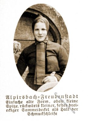 Trachtenhaube, Alpirsbach, Kinzigtal, Freudenstadt, Baden-Württemberg, Rose Julien, Volkstrachten