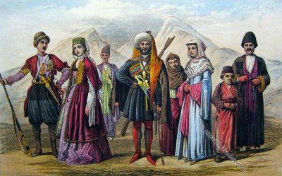 Historische Trachten, Georgien, Armenien