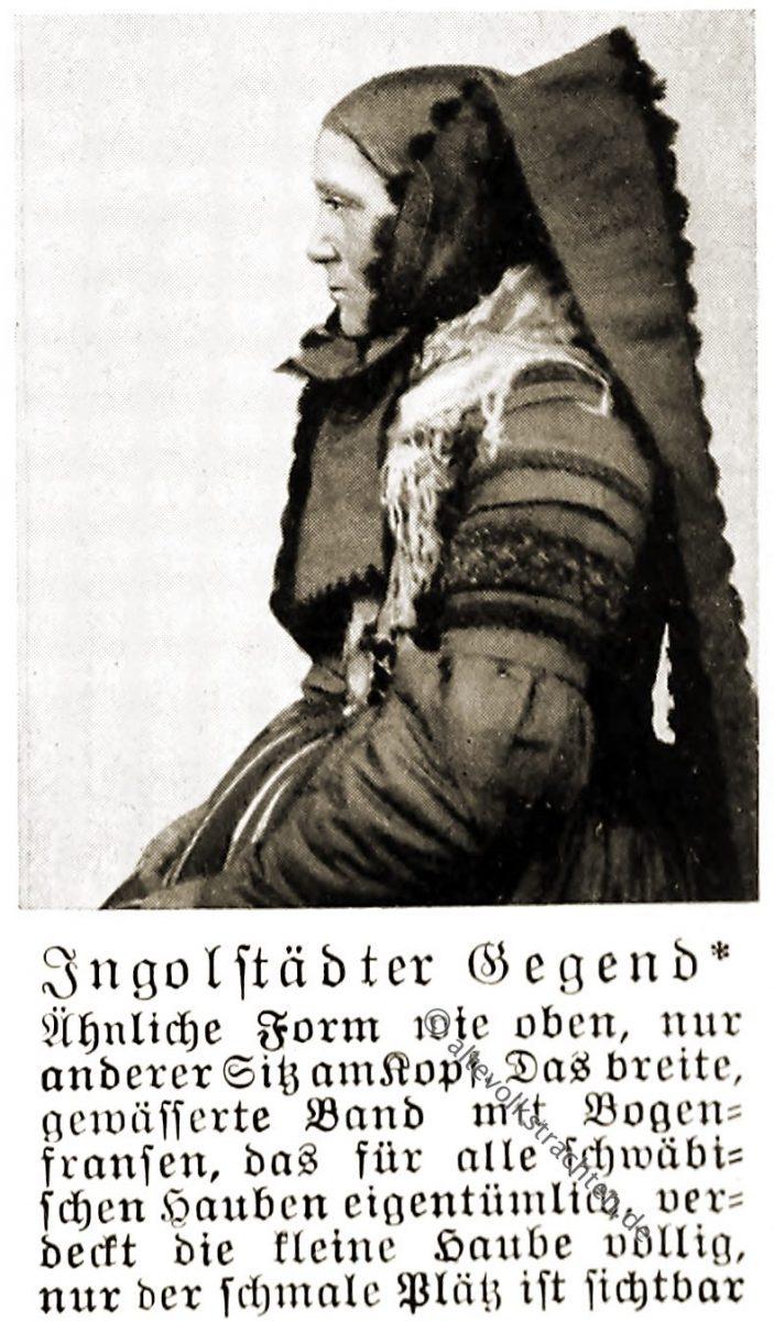 Trachtenhaube, Haube, Ingolstadt, Bayern, Oberbayern, Rose Julien, Volkstrachten