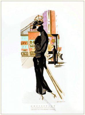 Pelzkostüm, Kuhnen, Steffi Nathan, STYL, Modemagazin, 1920er, Modegeschichte, Art deco,