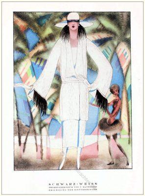Promenadenkostüm, Kostüme, Mannheimer, Annie Offterdinger, STYL Modemagazin, 1920er, Modegeschichte, Art deco,