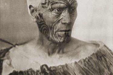 Maori, Häuptling, Tattoo, Neuseeland, Gesichtstätowierung