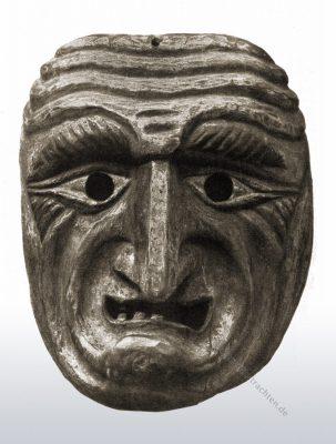Maske, Holzmaske, Oberbayern, Partenkirchen, Larve, Fasching, Fasnacht, Maschkera, Faschingsmaske