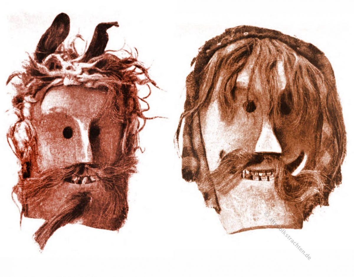 Tschägättä, Maske, Mask, Lötschental, Kanton Wallis, Schweiz, Fastnacht, Brauchtum, Folklore