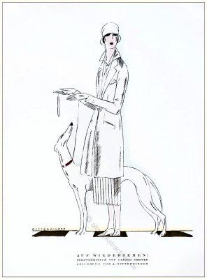 Strassenkostüm, Gerhard Dresser, Annie Offterdinger, Styl, Modemagazin, 1920er, Modegeschichte, Art deco,