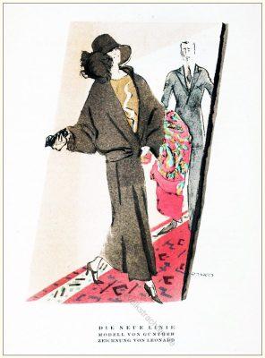 Kostüme, Leonhard, Styl, Modemagazin, 1920er, Modegeschichte, Art deco,