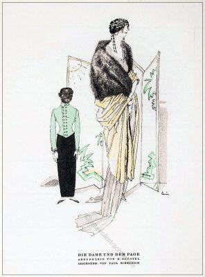 Abendkleid, Kostüm, Gerstel, Paul Scheurich, Styl, Modemagazin, 1920er, Modegeschichte, Art deco,