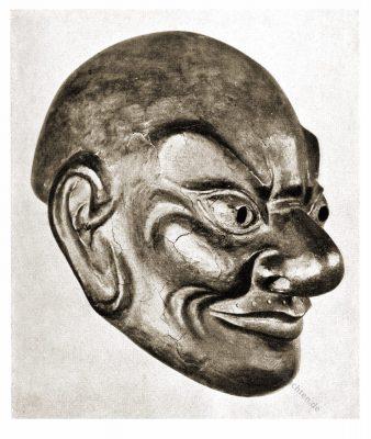 Priestermaske, Tibet, Holzmaske, Ritualmaske, Schamanismus, Schamane, Lamaismus, Cham-Tänze, Cham-Mysterien