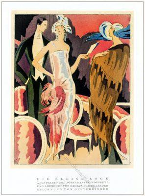 Regina Friedländer, Abendkleid, Zobelmantel, Abendhut, Annie Offterdinger, Styl, Modemagazin, 1920er, Modegeschichte, Art deco,