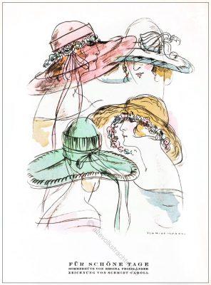 Sommerhüte, Regina Friedländer, Styl, Modemagazin, 1920er, Modegeschichte, Art deco,
