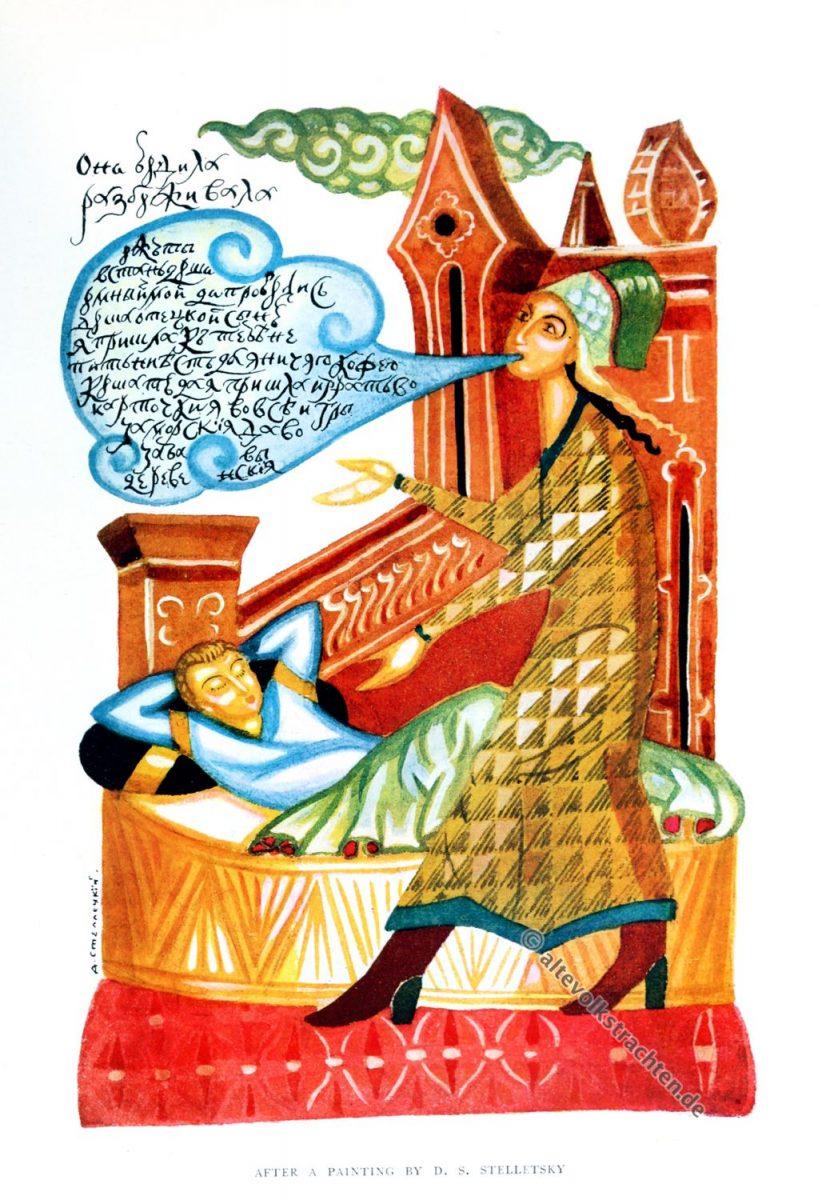 Alexander Stelletsky, Russland, Kunst, Illustration, Winifred Stephens, Volkskunst, Folklore