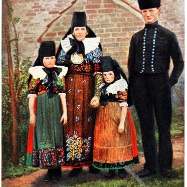 Trachten aus Lindhorst, Niedersachsen um 1912
