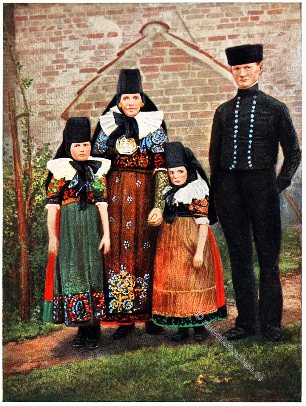 Trachten, Niedersachsen, Schaumburg-Lippe, Lindhorst, Rose Julien, Deutsche Volkstrachten