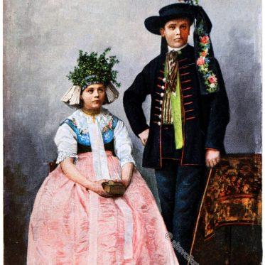 Kranzeldame und Kranzelherr von Roßberg.