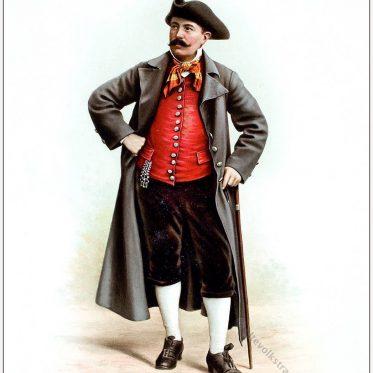 Bauer aus dem Kanton Schaffhausen. Schweizer Trachtenfest 1896.