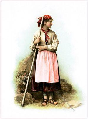 Schächentalerinnen, Schächental, Kanton, Uri, Trachten, Schweiz