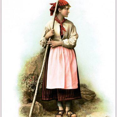 Die Tracht der Schächentalerinnen um 1896