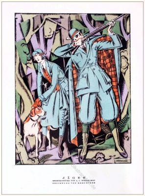 Sportkostüme, Jäger, Steinhart, Kreuscher, Styl, Modemagazin, 1920er, Modegeschichte, Art deco,