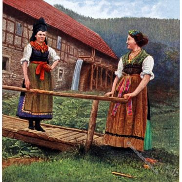 Thüringer Tracht vom Wald um 1912.