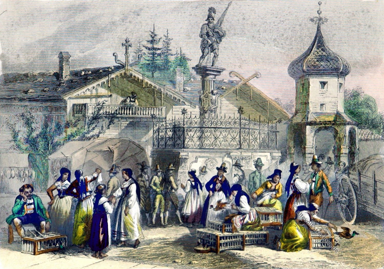 Innsbruck, Markt, Tirol, Trachten, costumés, Tyrol, Xavier Marmier Rouargue Frères