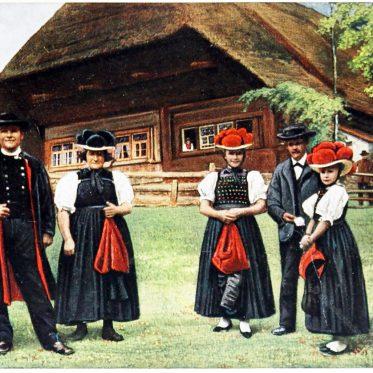 Schwarzwälder Tracht von Gutach (Kirnbach, Engelbach).
