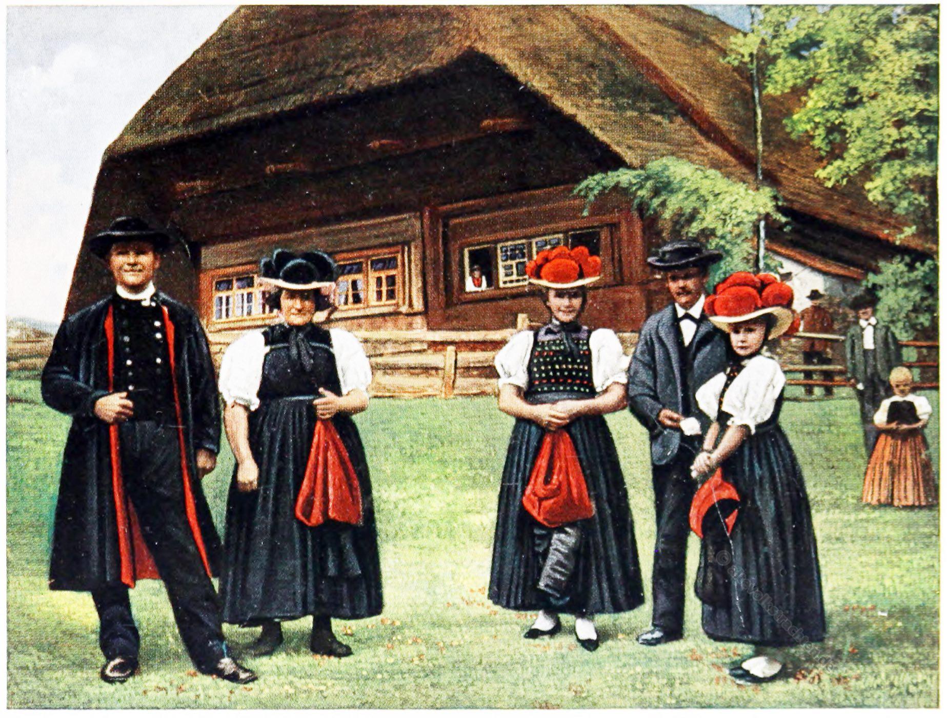 Trachten, Schwarzwald, Gutach, Kirnbach, Engelbach, Rose Julien, Kostümkunde, Modegeschichte