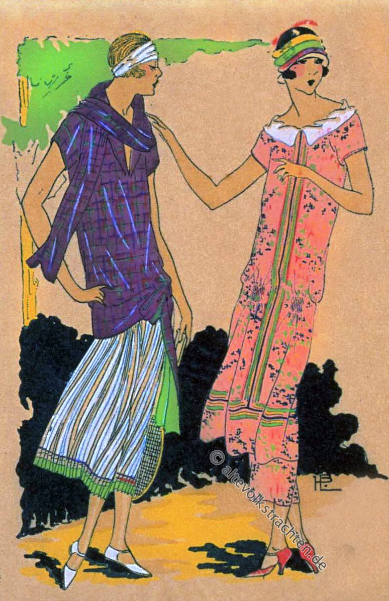 Très Parisien, Mode, 1920er, Kostüme, Art-Deco, Germaine Paule Joumard