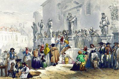 Brünn, Brno, Markt, Kloster, Tschechien, Mähren, Rouargue Frères, Xavier Marmier, Trachten,
