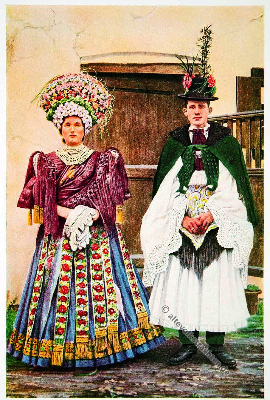 Ungarn, Hochzeitspaar, Trachten, Kostüme, traditionell, Kostümgeschichte