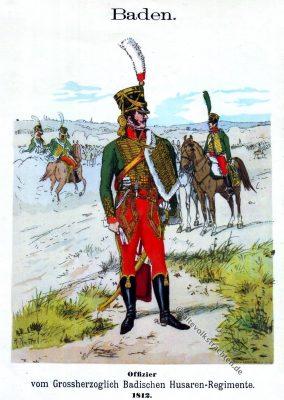 Uniform, Husaren-Regiment, Husar, Baden, Offizier, Knötel, Uniformkunde