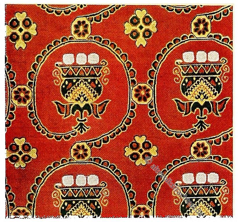 Rankenstoff, Alexandrien, Antike, Textilien, Stoffe, Muster, Gewebe