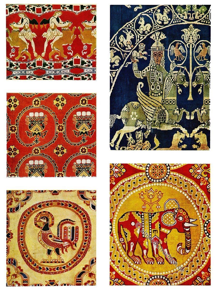 Ägypten, Spätantike, Antike, Textilien, Stoffe, Muster, Gewebe, Webkunst