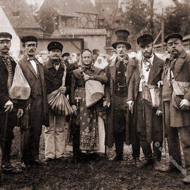 Hausierer und Spielwarenhändler aus dem Erzgebirge.