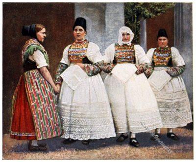 Hoyerswerda, Festtracht, Sachsen, Volkstrachten, Deutschland, Rose Julien, Kostüme
