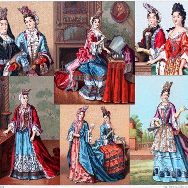 Weibliche Moden in Frankreich des 17. Jhs. Die Palatine.