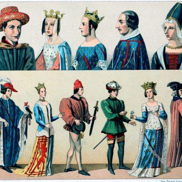 Trachten des französischen Adels im 14. Jahrhundert