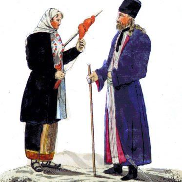 Bäuerin und Geistlicher aus Moldawien um 1816.