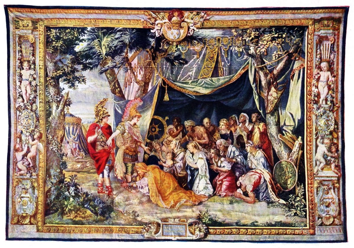 Gobelin, Barock, Darius, Alexander, Kunsthistorie, Gobelinsammlung, Gobelins, 17. Jahrhundert,