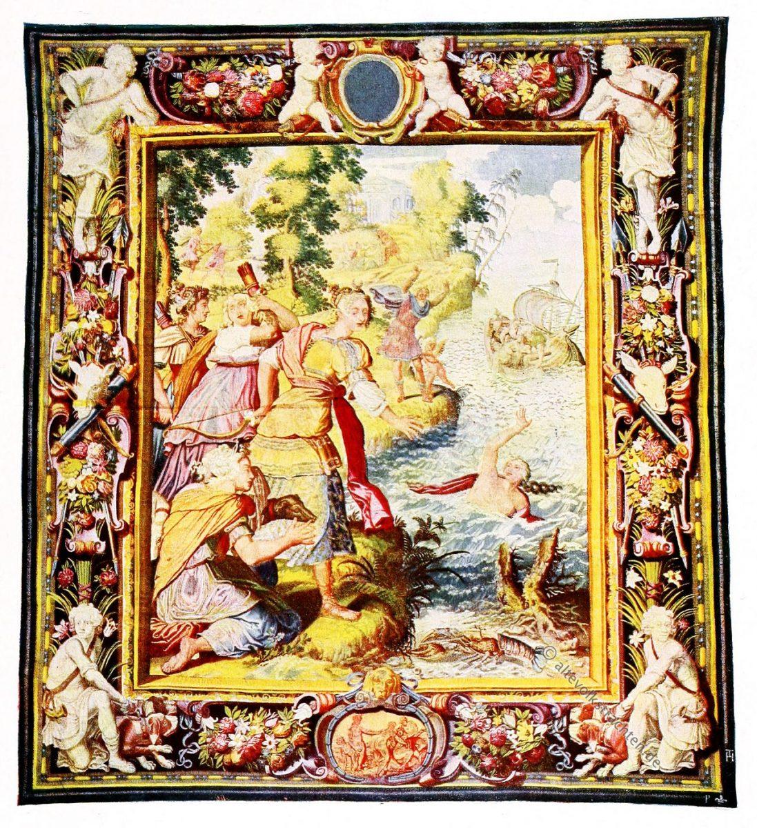Gobelin, Barock, Minos, Britomartis, Nymphe, Kunsthistorie, Gobelinsammlung, 17. Jahrhundert