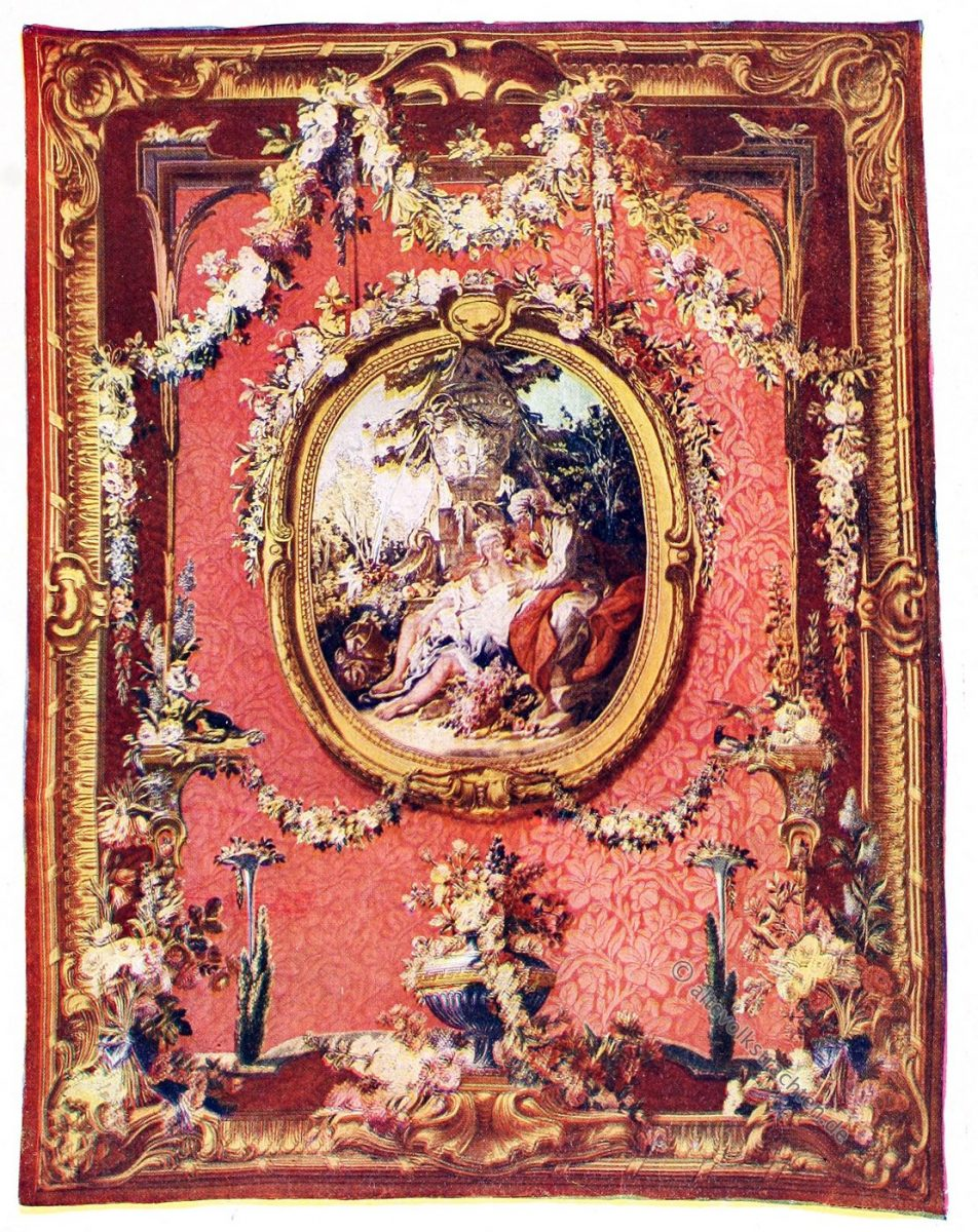 Gobelin, Rokoko, Barock, Vertumnus, Pomona, Kunsthistorie, Gobelinsammlung, Gobelins, 18. Jahrhundert,