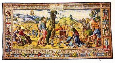 Gobelin, Brüssel, 16. Jahrhundert, Renaissance, Gobelins, Kunsthistorie, Gobelinsammlung, Textilgemälde, Bildteppiche, Bildwirkerkunst, Biblische Motive, Christen, Juden,