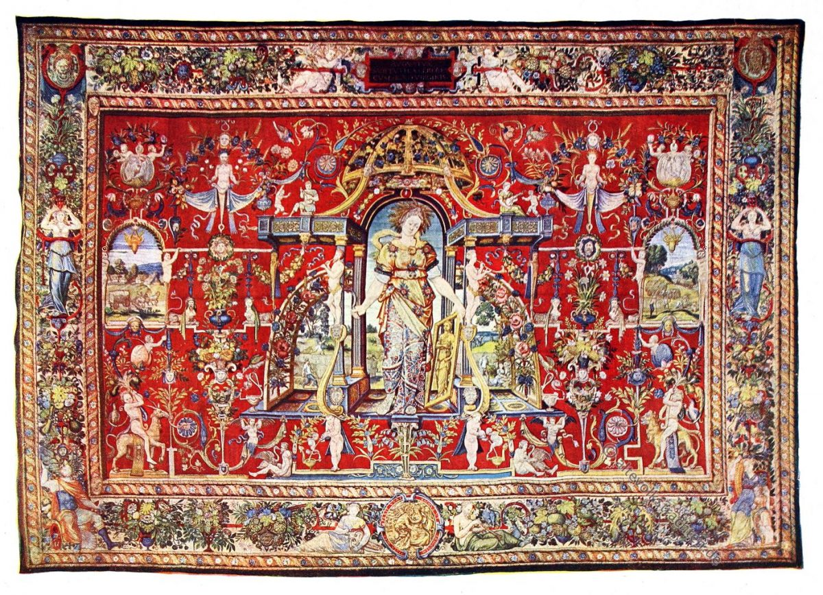 Gobelin, Renaissance, Monat, August, Kunsthistorie, Gobelinsammlung, Brüssel, 16. Jahrhundert, Wien