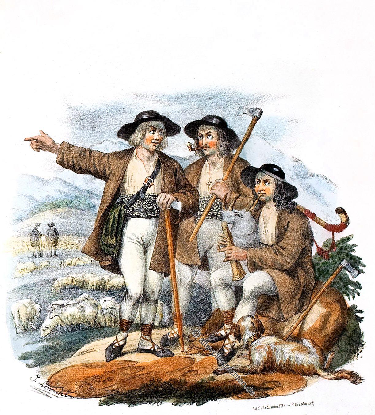 Goralen, Górale, Hirten, Trachten, Karpaten, pasterstwie, Przedgórze, karpaccy,