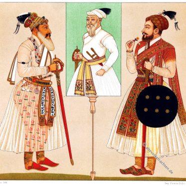 Indien Radschputen. Portraits der letzten Herrscher von Golkonda.