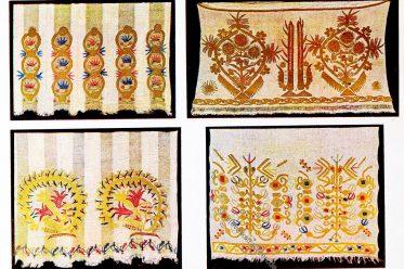 Brautleintücher, Seidenstickerei, Goldstickerei, Kosovo, Balkan, Volkskunde, Folklore, Shkodra, Shkodër, Peja, Ipek,